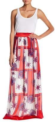 TOV Printed Chiffon Maxi Skirt