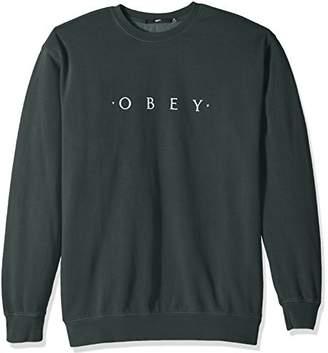 Obey Men's Novel Basic Crew Neck Fleece Sweatshirt
