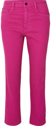 Simon Miller Cropped High-rise Straight-leg Jeans - Magenta