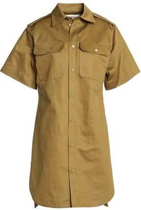 Marni Cotton And Linen-Blend Gabardine Shirt Dress