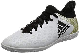 adidas Boys' X 16.3 in Football Boots, (FTWR White/Core Black/Gold Met), 12.5 Child UK 31 EU