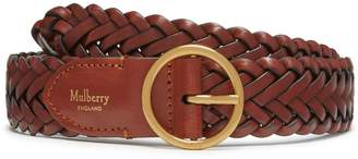 Mulberry Classic Braided Belt Caramel Natural Leather