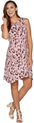 Logo By Lori Goldstein LOGO by Lori Goldstein Cotton Modal Printed Dress w/ Pockets