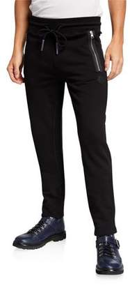 Moncler Men's Matte Knit Sweatpants