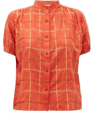 Ace&Jig Aiden Checked Lame Cotton Blend Shirt - Womens - Red Multi