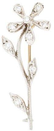 Cathy WatermanCathy Waterman Platinum Flower Diamond Brooch