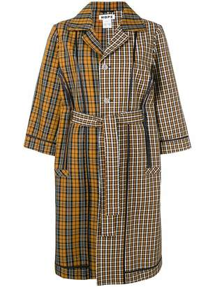 Hope checked belted coat