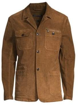 John Varvatos Garment Dye Long-Sleeve Corduroy Jacket