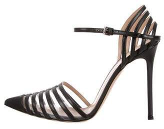 Gianvito Rossi Leather Ankle-Strap Pumps