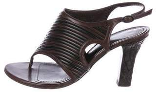 Bottega Veneta Intrecciato Thong Sandals