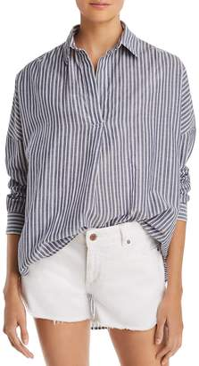 French Connection Tatus Striped Cotton Top