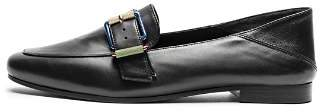 Zadig & Voltaire Women's Happy Metal Almond Toe Leather Loafers