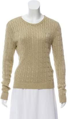 Ralph Lauren Black Label Metallic Knit Sweater