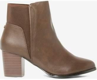 Dorothy Perkins Womens Chocolate 'Avenue' Heeled Boots