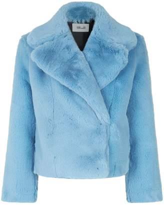 Diane von Furstenberg Crop Faux Fur Jacket