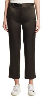Theory Thorelle Vintage Satin Cargo Straight Pants $345 thestylecure.com