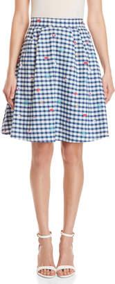 Yumi Travel Gingham Skirt