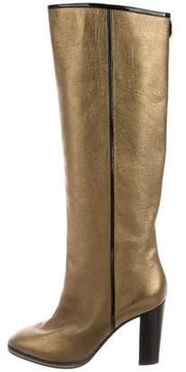 Pollini Metallic Knee-High Boots