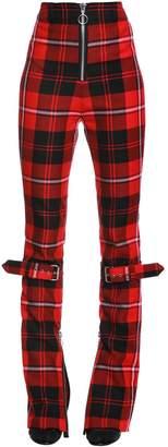 Manson's Plaid Wool Pants W/ Belts
