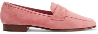 Mansur Gavriel - Classic Suede Loafers - Pink $425 thestylecure.com