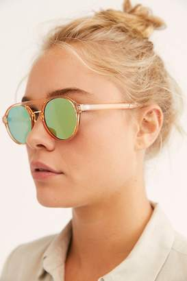 Free People Catch Me If You Can Round Aviator Sunglasses