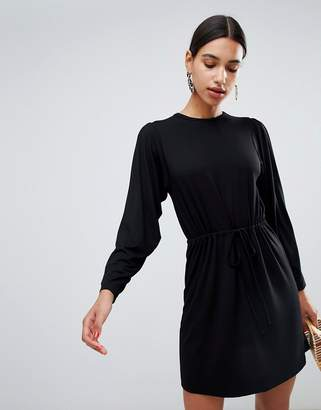 Asos Design DESIGN batwing mini dress with drawstring waist