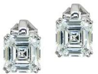 Lord & Taylor Fantasia Square Crystal Stud Earrings
