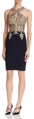 Avery G Embellished-Bodice Dress