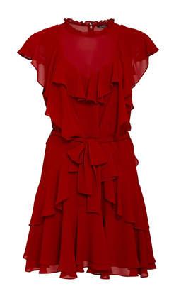 Marissa Webb Sully Layered Crepe Mini Dress