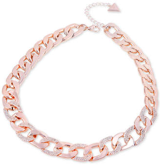 """GUESS Pave Link Collar Necklace, 16"""" + 2"""" extender"""