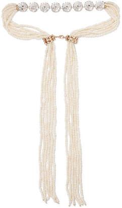 Rosantica Meraviglia Gold-tone, Pearl And Crystal Necklace - White