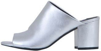 Steve Madden Metallic Leather Mules
