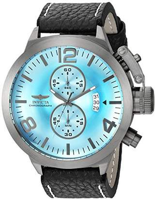 Invicta Men's 'Corduba' Quartz Stainless Steel and Leather Casual Watch