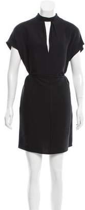 Valentino Belted Silk Dress