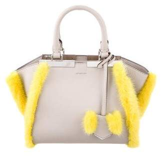 Fendi Fur-Trimmed Mini 3Jours Satchel w/ Tags