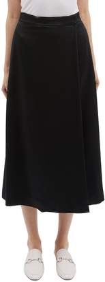 Theory Textured wrap skirt panel crepe culottes