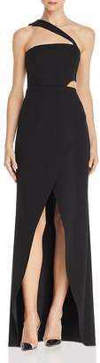BCBGMAXAZRIA One-Shoulder Cutout Gown - 100% Exclusive