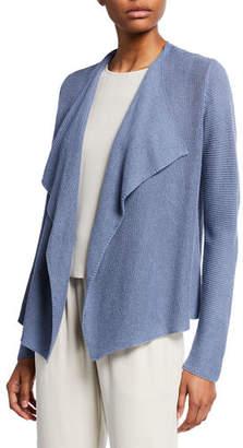 Eileen Fisher Drape-Font Organic Linen/Cotton Cardigan