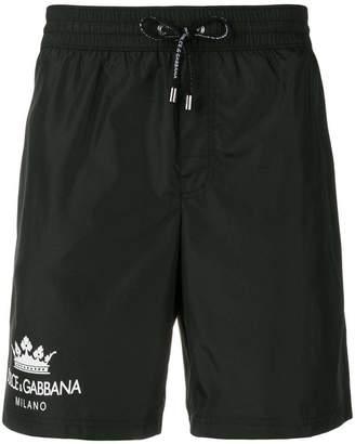 Dolce & Gabbana contrast logo swim shorts
