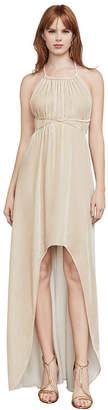 BCBGMAXAZRIA Valerie High-Low Halter Gown