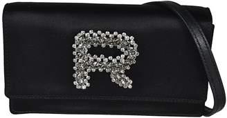 Rochas Jewelry Embellished Logo Shoulder Bag