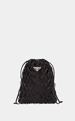 64fb5b5de097 Prada Women s Mesh   Satin Drawstring Bag - Black