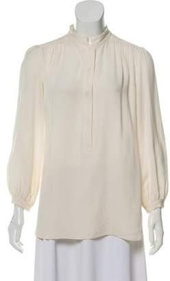 Kiton Silk Button-Front Blouse