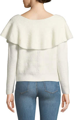Dex Draped Off-the-Shoulder Knit Sweater