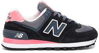 New Balance Classic Running Sneaker in Black $75 thestylecure.com