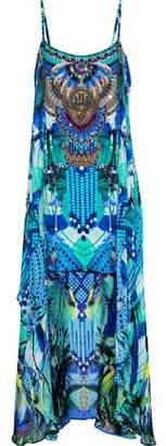Camilla Amazon Embellished Printed Silk Crepe De Chine Mini Dress
