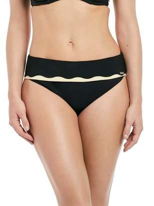 Fantasie Sainte Maxime Fold-Over Bikini Bottom, XL, Black