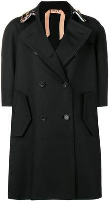 No.21 embellished double-breasted coat