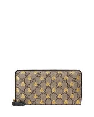 Gucci Linea A GG Supreme Canvas Zip-Around Wallet