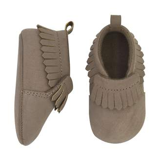 Gold Bug Baby Brown Faux-Suede Fringe Moccasin Crib Shoes